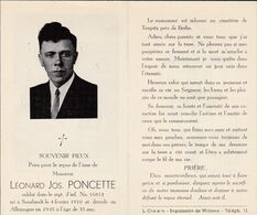 Souvenir LP De Sourbrodt Soldat Malgré-nous Tué Dans La Région De Berlin En 1945 - Documenti
