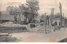 59 .n° 110001 . Le Quesnoy . Les Ruines De La Gare .guerre Mondiale 1914-18 . - Le Quesnoy