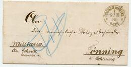 Militaria Brief Aus ROSTOCK 1880 Nach Tönning - Briefe U. Dokumente