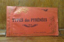 Carnet De 10 Sur 12 C P A Pyrénées Basques ? Danse Ossaloise Chien Berger Attelage Enfants - People