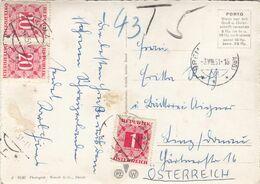 ÖSTERREICH NACHPORTO 1951 - 1 + 2x20 Gro Nachporto Auf Ak BREMGARTEN Gelaufen V.Bremgarten > Linz, Transportspuren - Segnatasse