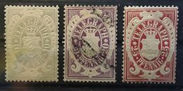 BAYERN BAVIERE Telegraphe / Telegraph , 3 Timbres Neufs / O , Yvert No 9 * , 10 O , 11 * , TB - Bavaria