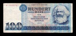 Alemania Germany Dem. Rep. DDR 100 Mark 1975 Pick 31b BC F - [ 6] 1949-1990: DDR - Duitse Dem. Rep.