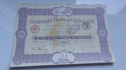 COMPTOIRS FRANCAIS DE L'OCEANIE (papeete) - Unclassified