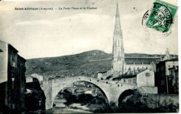 N°3984 R -cpa Saint Affrique -le Pont Vieux Et Le Clocher- - Saint Affrique