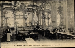 CPA Nancy Meurthe Et Moselle, Le Grand Cafe, Garcon - Francia