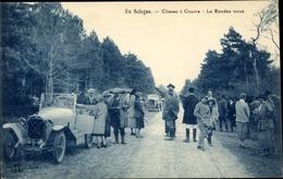 CPA En Sologne Loiret, Chasse à Courre, Rendez-Vous, Automobiles - Sonstige Gemeinden