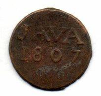 INDONESIA - NETHERLANDS EAST INDIES - KINGDOM OF HOLLAND - JAVA, 1 Duit, Copper, Year 1807, KM #220 - Indonésie