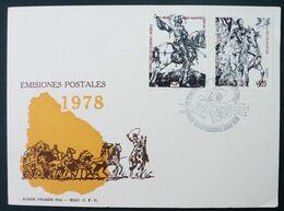1978 URUGUAY FDC Special Postmark -painting Tableau Saint Geroge Georges Durer Rubens Cavalier Horse Duc Lerma-Yv A409/0 - Uruguay
