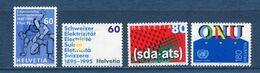 Suisse - YT N° 1468 à 1471 - Neuf Sans Charnière - 1995 - Ongebruikt