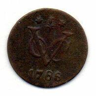 INDONESIA - NETHERLANDS EAST INDIES - GELDERLAND, 1/2 Duit, Copper, Year 1788, KM #55 - Indonésie