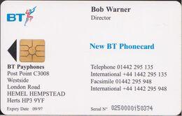 UK - Chip - VIS002 - Bob Warner - 250 X. - MINT - [ 8] Companies Issues