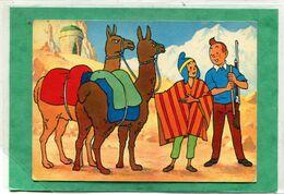 Illustrateur  - HERGE  , TINTIN Et Le Temple Du SOLEIL . (  Pliure  Haut  Gauche ) - Hergé