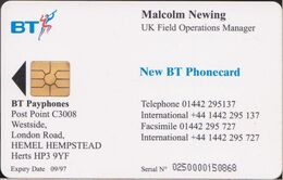 UK - Chip - VIS004 - Malcom Newing - 250 Ex. - MINT - [ 8] Companies Issues