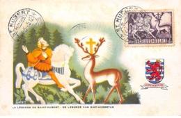 Belgique .CARTE MAXIMUM. N°207752. 1945. Cachet Hubert. La Legende De Saint Hubert. Van Sint Hubertus - 1934-1951