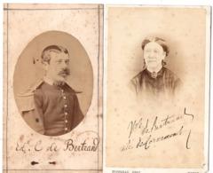 Militaire C.1880 - 13e Regiment Photo Cdv Sous-lieutenant Du 16e Dragons Cambrai - Personas Identificadas