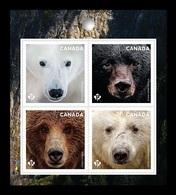 Canada 2019 Mih. 3749/52 Fauna. Bears (self-adhesive) MNH ** - Ongebruikt
