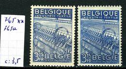 Belgique  N° 765/765a Xx - Unused Stamps