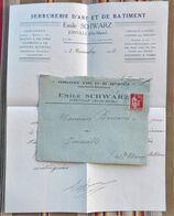 52 JOINVILLE Lettre + Enveloppe E. SCHWARTZ Serrurerie D'Art Demission Pour Capitaine Sapeurs Pompiers - Frankrijk