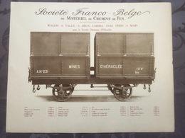 Affiche - Planche Train FRANCO BELGE DE MATERIEL DE CHEMINS DE FER Pour Ottomane D'héraclée Ottoman - Railway