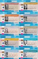 GREECE - Set Of 10 Cards,  Nobel Laureates Travel, 07-08-10-11-12/06, Used - Grecia