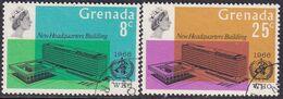 GRENADA 1966 SG 248-49 Compl.set Used WHO Headquarters - Grenada (...-1974)
