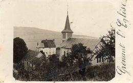 Carte Photo GRENANT (52) Haute Marne .L église En 1923.Recto Verso - Non Classificati