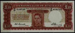 AUSTRALIA  1949 BANKNOTES 10 POUNTS UNC!! - 1938-52