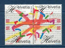 Suisse - YT N° 1563 à 1566 - Neuf Sans Charnière - 1998 - Ongebruikt