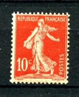 134 - 10c Rouge Semeuse Avec Sol - Neuf N* (trace Très Légère) - Très Beau - 1906-38 Sower - Cameo