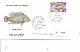 Poissons - Tilapia ( FDC Du Cameroun De 1968 à Voir) - Peces