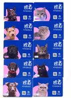 Russia Moscow Transport Card Troika Cats And Dogs Love Complete Set - Russland