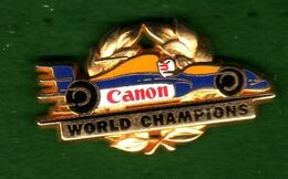 Pin's Formule 1 REnault World Champions  Canon  Zamac  Arthus Bertrand - Arthus Bertrand