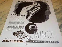 ANCIENNE PUBLICITE VRAIMENT NOUVELLE LAMES DE RASOIR GIBBS 1934 - Perfume & Beauty