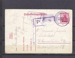 Belgium Occupation Belge Postuberwachung - Occupation 1914-18