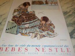 ANCIENNE PUBLICITE  SOUS TOUS LES CIELS DU MONDE  BEBES NESTLE 1934 - Afiches