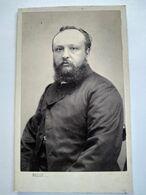 Photo CDV Second Empire - Portrait Homme Barbu - Circa 1865 - Photo Belle, St Omer - TBE - Ancianas (antes De 1900)