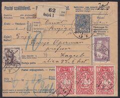 Croatia SHS, Osijek, Triple Mixed Franking (with Hungary And Chainbreakers), June 1919 - 1919-1929 Kingdom Of Serbs, Croats And Slovenes