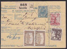 Croatia SHS, Varaždin, Mixed Franking With Hungary, March 1919 - 1919-1929 Kingdom Of Serbs, Croats And Slovenes