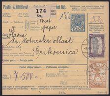 Croatia SHS, Senj, Mixed Franking Chainbreakers/Hungary, August 1919 - 1919-1929 Kingdom Of Serbs, Croats And Slovenes