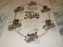 ANCIENNE PUBLICITE  RADIO PATHE  1934 - Radio & TSF