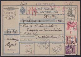 Croatia SHS, Zagreb, Reimbursement Money Transfer Form, February 1919 - Storia Postale