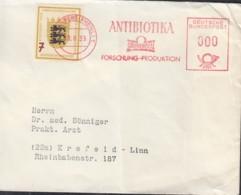 BRD 212 EF, Auf Brief-Drucksache Der Fa. Grünenthal, Mit Freistempel 000 (Pfg) Entwertet: Stolberg 19.8.1955 - BRD