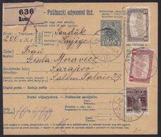 SHS, Ruma, Parcel Card, Mixed Franking With Hungary, April 1919 - 1919-1929 Kingdom Of Serbs, Croats And Slovenes