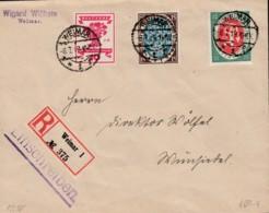 DR 107-109 MiF Auf R-Brief  Mit Stempel: Weimar 8.7.1919 - Infla