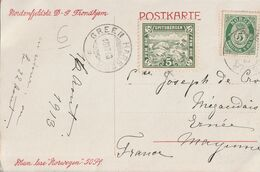 NORVEGE SPITSBERGEN 1913 ( LOCAL STAMP  RARE ) Timbre Poste  Local Ours 5  SPITZBERGEN NORGE NORWAY - Norway
