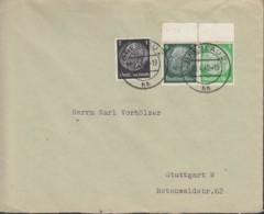 DR W 83 MiF, Auf Brief Mit Stempel: Breslau 20.4.1940 - Zusammendrucke