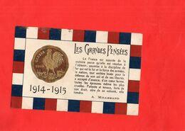 G0709 - Les Grandes Pensées - 1914/1915 - A. MILLERAND - Patrióticos