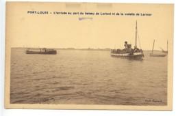 Port Louis, Arrivée Du Bateau De Lorient En De La Vedette De Larmor, France, Postcard, CPA, Unused - Ohne Zuordnung
