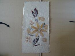 Composition Fleur Sur Papier Artisanal (herbier)  39 X 20 Cm TBE - Blumen